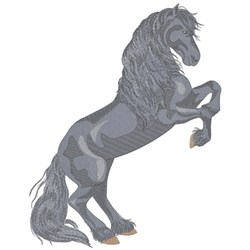 Friesian Rearing embroidery design