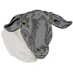 Suffolk Sheep Head embroidery design