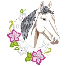 Standardbred Horse embroidery design