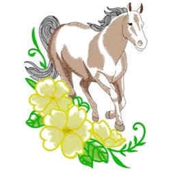 Quarter Horse & Primrose embroidery design