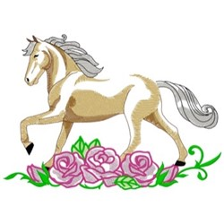 Standardbred & Roses embroidery design