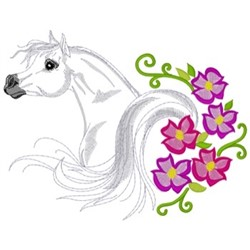 Arabian & Flowers embroidery design