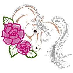 Standardbred Horse Head embroidery design
