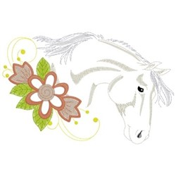 Quarter Horse head embroidery design