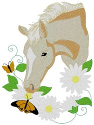 Palomino Pony embroidery design