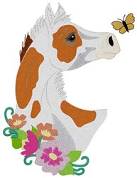 Paint Foal embroidery design