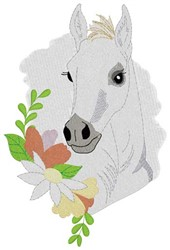 White Foal embroidery design
