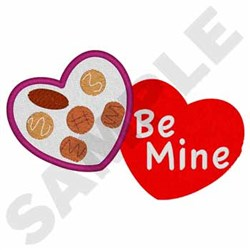 Valentines Chocolate - Be Mine embroidery design