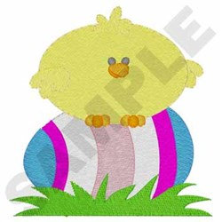 Chick On Egg embroidery design