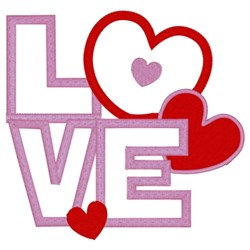 Love Hearts Applique embroidery design