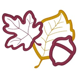 Fall Leaves Applique embroidery design