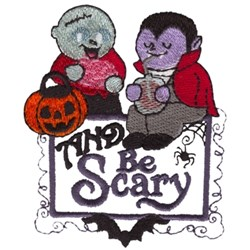 Be Scary Treat Pals embroidery design