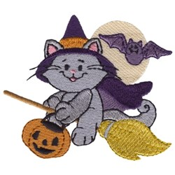Purrty Spooky embroidery design