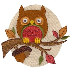 Fall Owl embroidery design