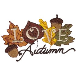 Love Autumn embroidery design