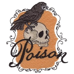 Poison - Crow & Skull embroidery design