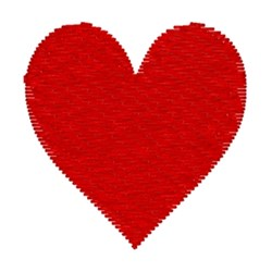 Big Red Heart embroidery design