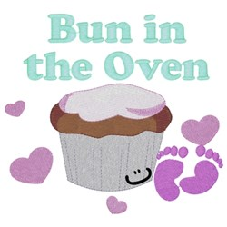 Bun In The Oven embroidery design