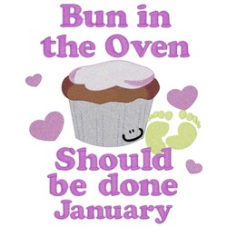 Bun In Oven - January embroidery design