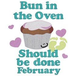 Bun In Oven - February embroidery design