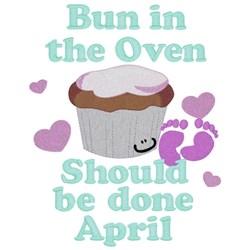 Bun In Oven - April embroidery design
