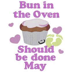 Bun In Oven - May embroidery design