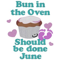Bun In Oven - June embroidery design