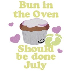 Bun In Oven - July embroidery design