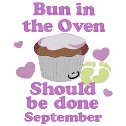 Bun In Oven - September embroidery design