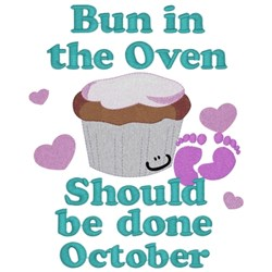 Bun In Oven - October embroidery design