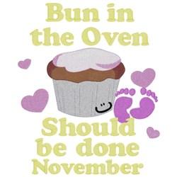 Bun In Oven - November embroidery design