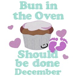 Bun In Oven - December embroidery design