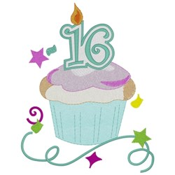 Sweet 16th Birthday embroidery design