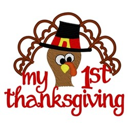 My 1st Thanksgiving embroidery design