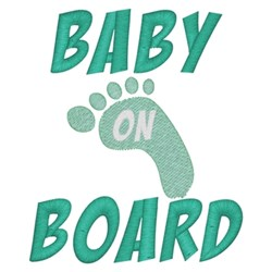 Baby On Board Footprint embroidery design