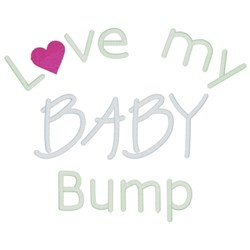 Love My Baby Bump embroidery design