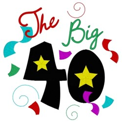 The Big 40 embroidery design