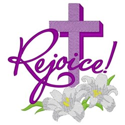 Rejoice Cross & Lilies embroidery design