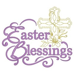 Easter Blessing embroidery design