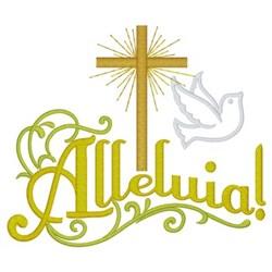 Alleluia - Cross & Dove embroidery design