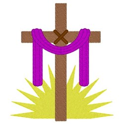 Cross With Sash embroidery design