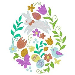 Decorative Egg embroidery design