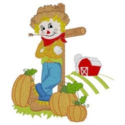 Scarecrow Barn Scene embroidery design