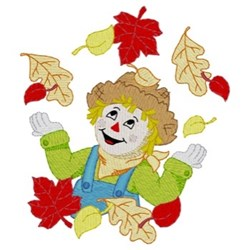 Scarecrow Fall Wreath embroidery design