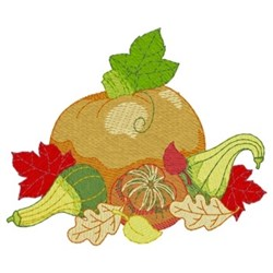 Pumpkin & Gourds embroidery design