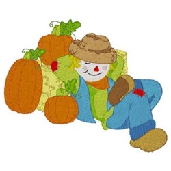 Sleeping Scarecrow embroidery design