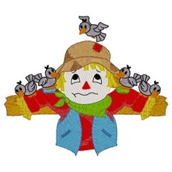 Scarecrow Covered In Crows embroidery design