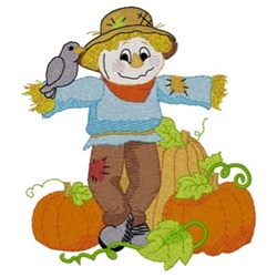 Scarecrow & Pumpkins embroidery design
