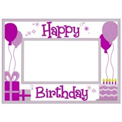 Happy Birthday Frame embroidery design