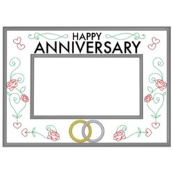 Anniversary Frame embroidery design